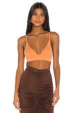 Dodo Bar Or Willa V Knit Bra in Orange