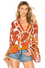 Dodo Bar Or Enid Blouse in Lulu Orange