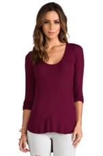 Long Sleeve Tee in Berry