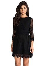 Velentina Eyelet Dress in Black