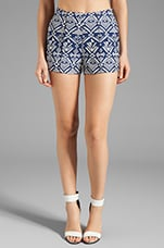 DV by Dolce Vita Agustina Tribal Tapestry Shorts in Navy
