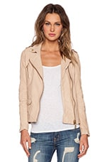 Oversized Biker Jacket in Pale
