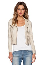 Fitted Moto Jacket in Acru