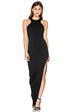 Racer Front Slit Maxi Dress en Noir
