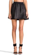 Leatherette Circle Skirt in Black