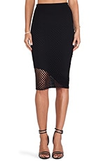 Asymmetrical Midi Skirt in Caviar