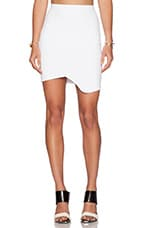 Cross Over Mini Skirt in White