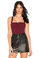 Donna Mizani Lana Bodysuit in Oxblood