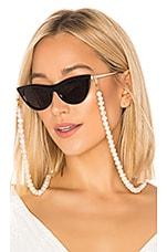DONNI. Pearl Sunglass Chain in White Pearl