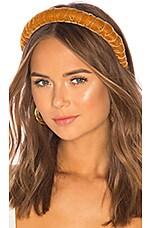 DONNI. Dolce Velvet Headband in Camel