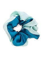 DONNI. Two Tone Chiquita Scrunchie in Seafoam & Turquoise