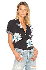 DOUBLE RAINBOUU Hawaiian Shirt in Glossy Possy Black