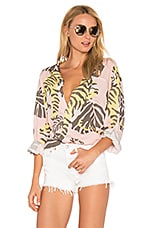 DOUBLE RAINBOUU Night Crawler Long Sleeve Shirt in Dusty Pink