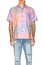 DOUBLE RAINBOUU Hawaiian Shirt in Champaign Supernova