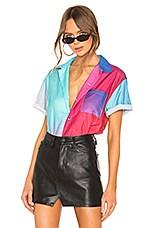 DOUBLE RAINBOUU Hawaiian Shirt in Synth Aura