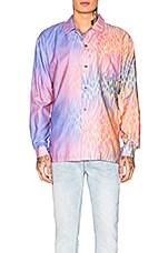 DOUBLE RAINBOUU Printed Shirt in Champaign Supernova