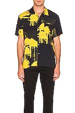 DOUBLE RAINBOUU Windy Nice Print Shirt in Midnight Blue