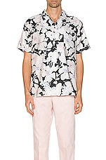 DOUBLE RAINBOUU Hawaiian Shirt in Cloud Control White