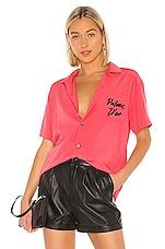 DOUBLE RAINBOUU Hawaiian Shirt in Logo Palm Pink