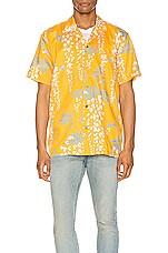 DOUBLE RAINBOUU Hawaiian Shirt in Over The Falls Turmeric