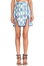 Janet Skirt in Blue Ikat