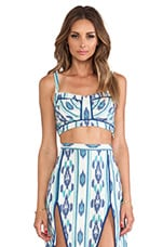 Kelly Top in Blue Ikat
