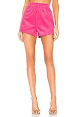 Dr. Denim Nadeja Corduroy Short in Power Pink Cord