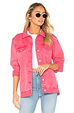 Dr. Denim River Trucker Jacket in Stone Pink