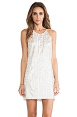 Jamie Sequin Tank Dress in White & Gold