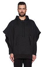 Drifter Eyas Poncho in Black/ Heather