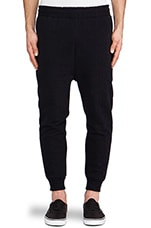 Burst Sweatpant in Black & Navy