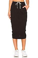 Soft Short Pillar Skirt in Black