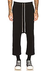 DRKSHDW by Rick Owens Drawstring Cropped Trouser in Black