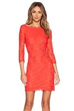 Zarita Dress in Hot Coral