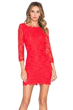Diane von Furstenberg Zarita Dress in Sundried Tomato