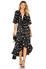 Diane von Furstenberg Sareth Midi Dress in Black and Silver