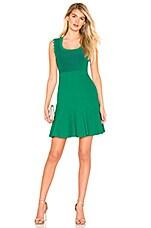 Diane von Furstenberg Adi Mini Dress in Emerald & Avalon Teal
