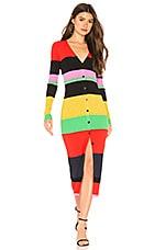 Diane von Furstenberg Maxi Sweater Dress in Candy Red Multi