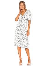 Diane von Furstenberg Jemma Dress in Abstract Lines & White