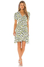 Diane von Furstenberg Emilia Dress in Summer Leopard & Sulfur