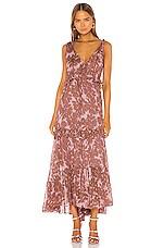 Diane von Furstenberg Misha Dress in Daisy Silhouette & Pale Mauve
