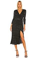 Diane von Furstenberg Bobbi Wrap Dress in Black