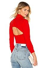 Diane von Furstenberg Mel Tie Sweater in Candy Red