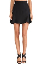 Flared Mini Skirt in Black