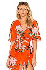 e20bd783056b3 Diane von Furstenberg Draped Wrap Beach Skirt in Argos Clementine ...