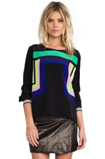 RUNWAY Perla Print Top in Geo Placement