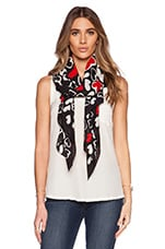 Satin Chiffon Heart Scarf in Multi