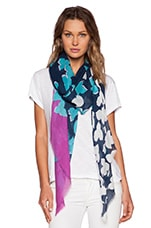 Floral Shadow Degrade Scarf in Midnight