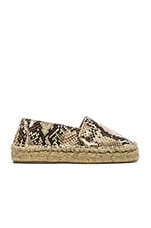 Tilly Flat in Beige Snake