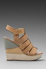Oceana Platform Sandal in Nude